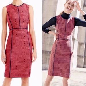 NWOT✨J. Crew Crimson Foulard Paneled Sheath Dress